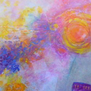 "Christine Reimer, ""Smoke in the Air"", 36' x 36"""